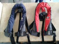Crewsaver automatic life jacket with harness x 2 (hardly used £60 each or £100 the pair)