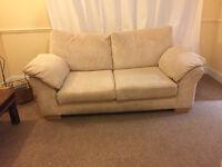 Double Cream Sofa and Armchair