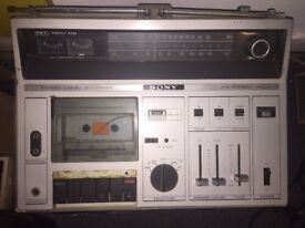 Sony CF-610 Cassette Recorder, Radio
