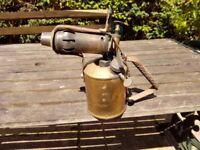 Vintage Brass Blow Lamp.