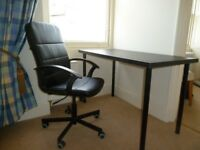 Desk and swivel chair good condition
