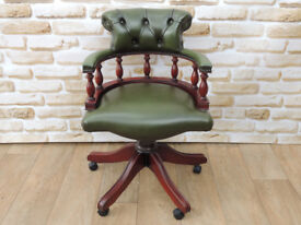 Compact Chesterfield Captains chair (Delivery)