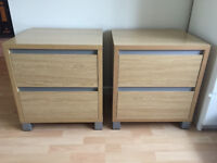 Set of Bedside Table/ Drawers
