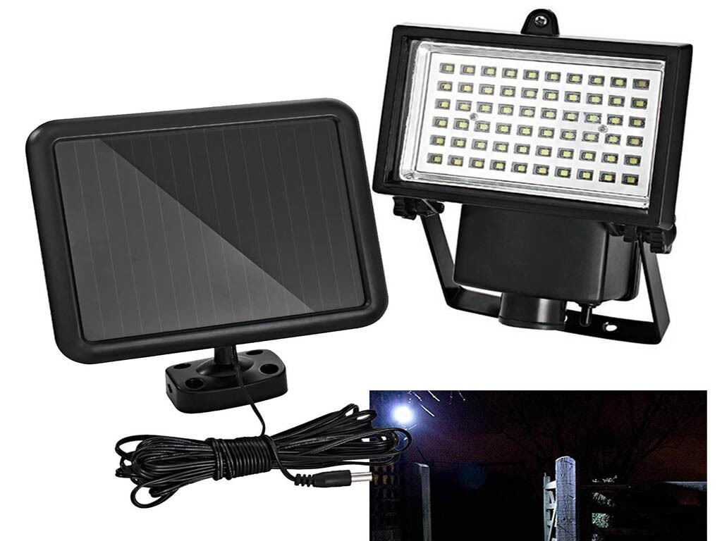 60 Led Rechargeable Solar Outdoor Garden Security Light