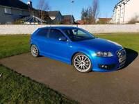 Audi s3 8p sprint blue 2008 320bhp forge loba miltek team dynamics px tiguan q3 q5 kuga