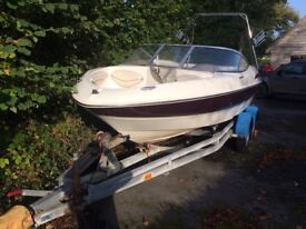 Maxum 1800SR Bowrider 2001 with twin axel braked trailer