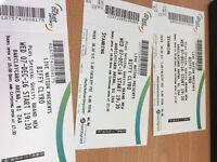 3 x Standing Tickets for Biffy Clyro Birmingham Barclaycard.