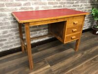 Vintage Writing Desk with red inlay