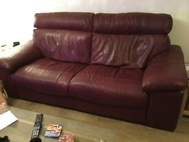 Sofa, leather quality leather Italian three seater