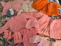 Knitted baby bundle mixed sizes