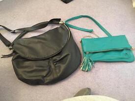 2 x crossbody handbags