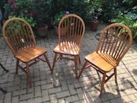 Spindle back chairs X 3