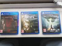 PS4 Metal Gear Solid 5 - Fallout 4 - Dragon Age Inquisition