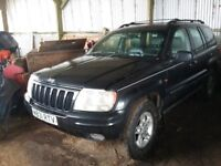 JEEP GRAND CHEROKEE 4LTR.1xyear mot.YEAR2000.Engine has loud clatter,otherwise...good cond for age.