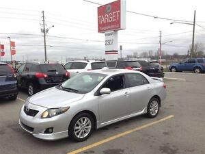 2009 Toyota Corolla S, Sport Looking, Loaded; Roof, Pw, Pl and M