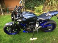 Yamaha MT07, 2014 (64) loads of extras, exhaust, cowls, screen ,alarm, 2168 miles, new MOT,