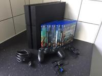 PS4 Playstation 4 with 5 games