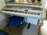 Yamaha dgx 500.portable grand piano full size 88 keys in vgc