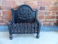 Beautiful Cast Iron Fire Hearth With Coat of Arms