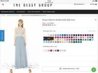 3 Misty blue/Ivory Bridsmaid dresses