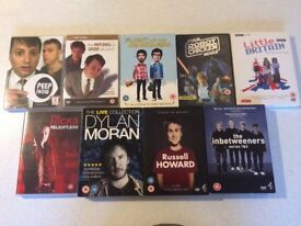 Comedy 9x DVD bundle, featuring Inbetweeners, Mitchell and Webb, and more