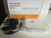 NETGEAR FS605v3 5 Port Fast Ethernet Switch