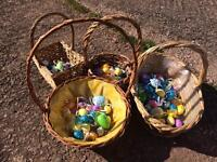 4 x wicker baskets perfect for Easter egg hunts. £2-£5 each or 4 for £10