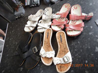 4x sandles size 6 (evans etc)