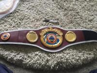 Boxing mini title championship belts not gloves