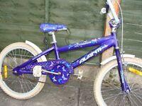 Girls purple Butterfly Bike