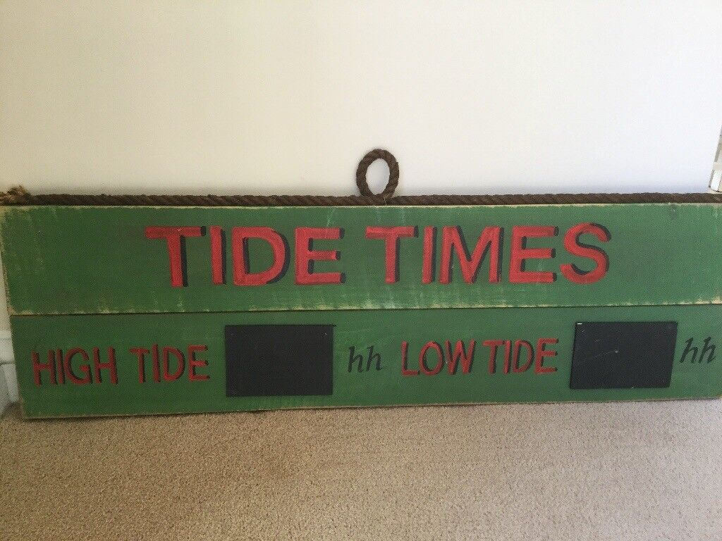 Tide In / Out sign