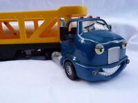 Good Quality American Chevron Toy Lorry & Cars Bundle. Eyes move, Doors Open.