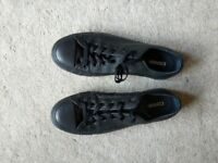Converse All Star Chuck Taylors, Black Leather, Low Ankle - UK Size 8