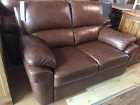 Ex-display/slight seconds**3+2 brown leather suite ONLY £539