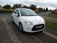 2010 CITROEN C3 1.6 DIESEL VTR 5 DOOR WHITE 12 MONTH M.O.T.