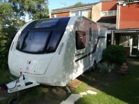 Swift Challenger 580SE 2014 4 Berth One Owner from new incl Mover, awning and many accessories