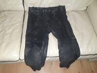 Leather bike pants size 34