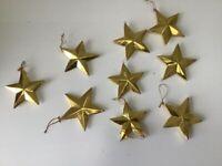 Gold stars, Christmas, crafts. *****