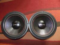 "2x bassface spl 15.2 15"" 38cm 4000 watt each subwoofer 2x4ohm dvc"