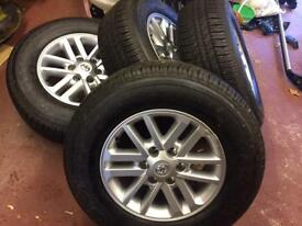 Toyota Hilux wheels and tyres. SPOTLESS.