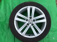 """17"""" VW GOLF/PASSAT ALLOY WHEELS ALLOYS TYRES WHEELS RIMS PCD 5 X 112 FITMENT"""