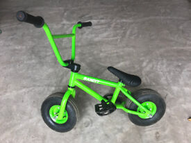 Mini BMX bike, RayGar Bandit, green