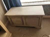 Vintage Painted Pine Ottoman Chest Blanket box