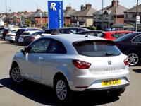 SEAT IBIZA 1.0 ECO TSI SE 3dr ** Low Miles and ZERO Road Tax ** (silver) 2016
