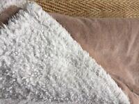 FAUX SHEEPSKIN, SOFT WARM BLANKET/THROW BY HERITAGE