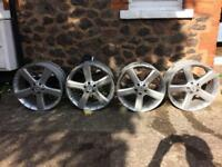 "Mercedes 20"" set of genuine alloy wheels 5x112"