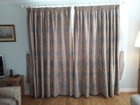 Two pairs of M & S Fully Lined Pencil Pleat Curtains.