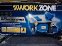Work zone electric tile cutter