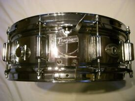 "Rogers Super 10 steel snare drum 14 x 5 1/2"" - USA - '73-'76"