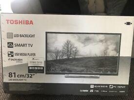BRAND NEW UNOPENED TOSHIBA LED SMART TV 32inch .
